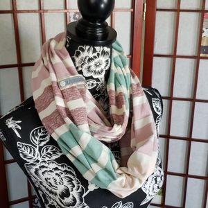 Lululemon striped wrap scarf